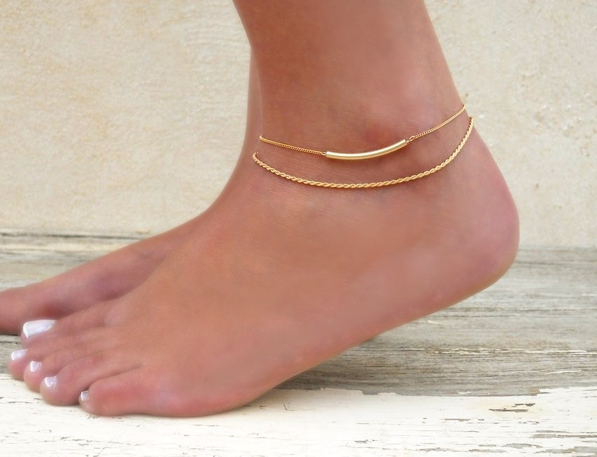 gold jewelry tenali anklet buy in