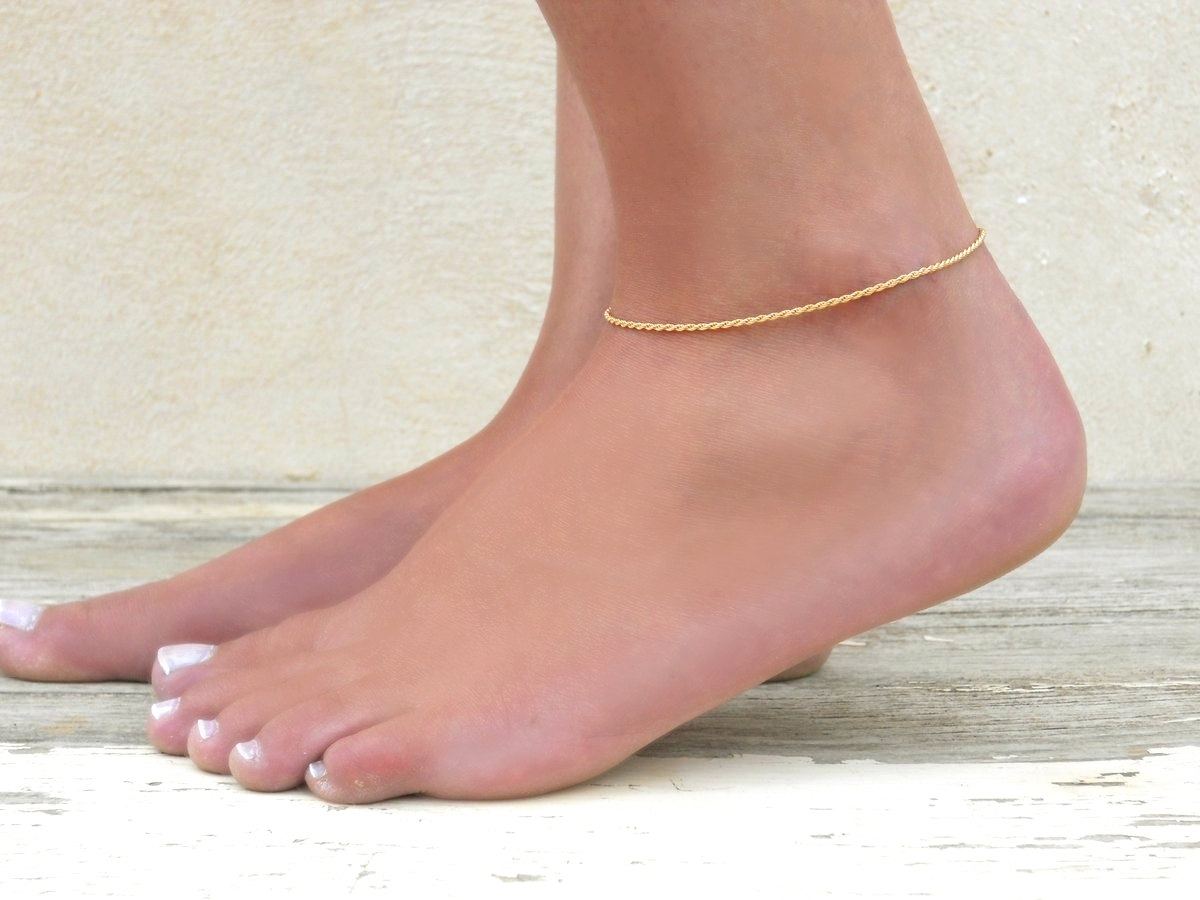 gold for heart bracelet anklets bell anklet girl on accessories in cute real jewelry pendant ankle hot korean color from plated fashion item