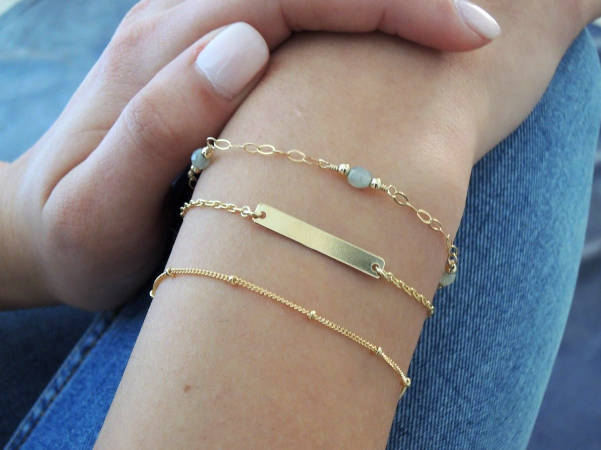 gold bracelet p karma women white jewelry geometric il dainty fullxfull gift circle for